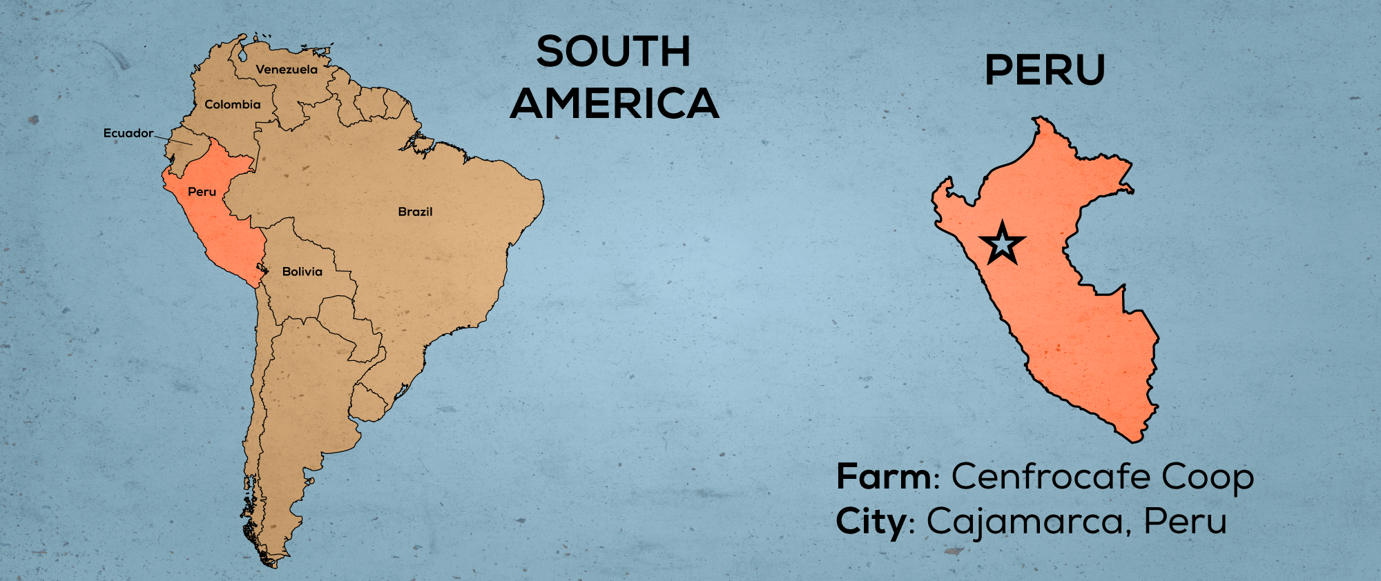 Map of South America & Peru