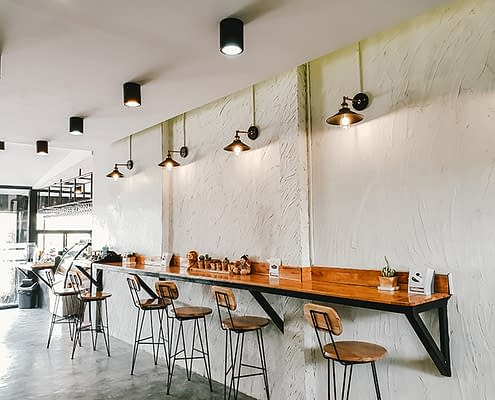 Coffee Shop Design Trends Counters High Ceilings.