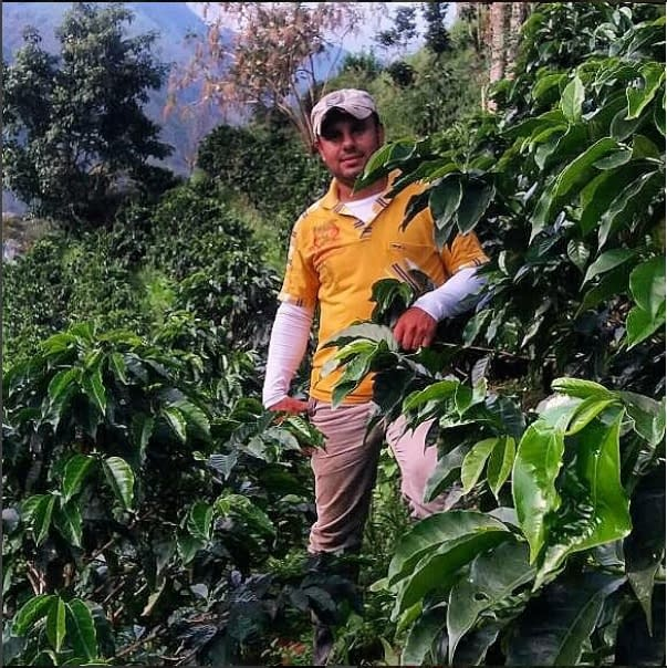 Eduin on his farm in Colombia