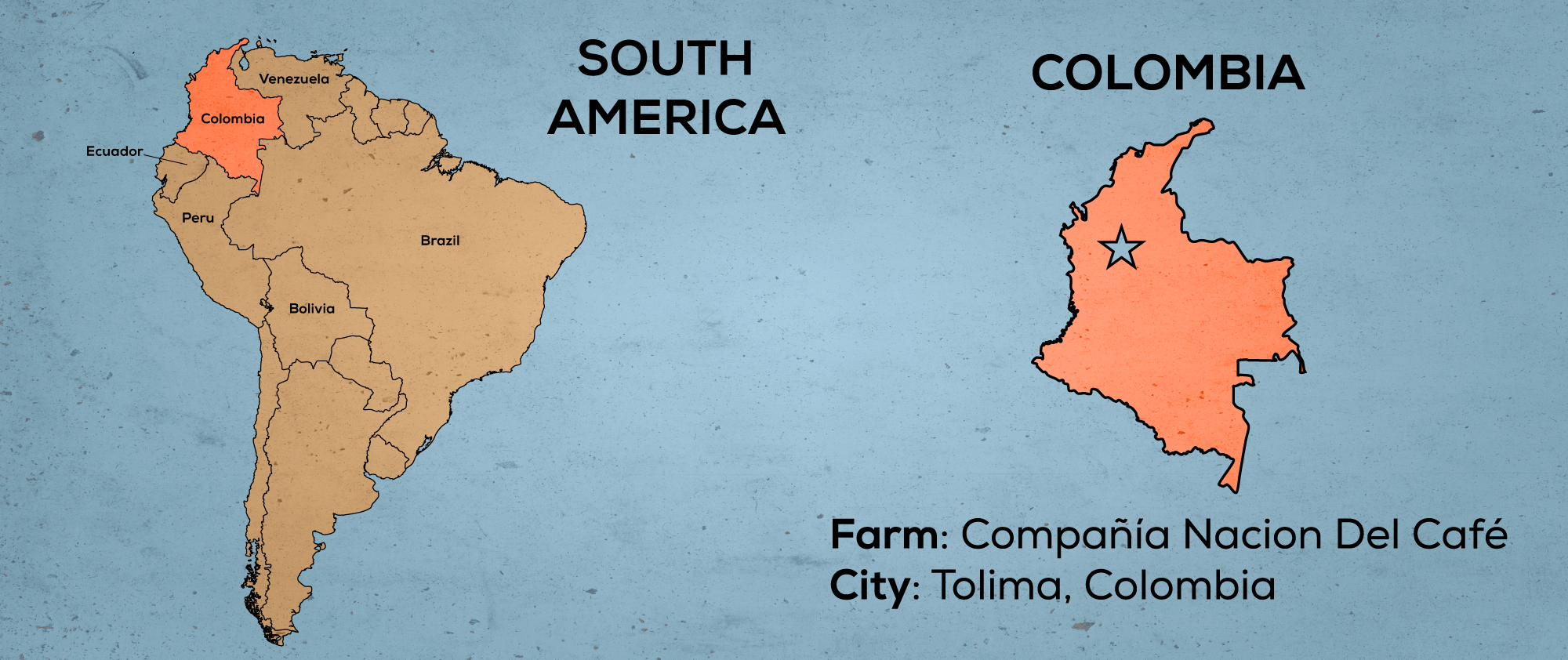 Map of South America & Colombia