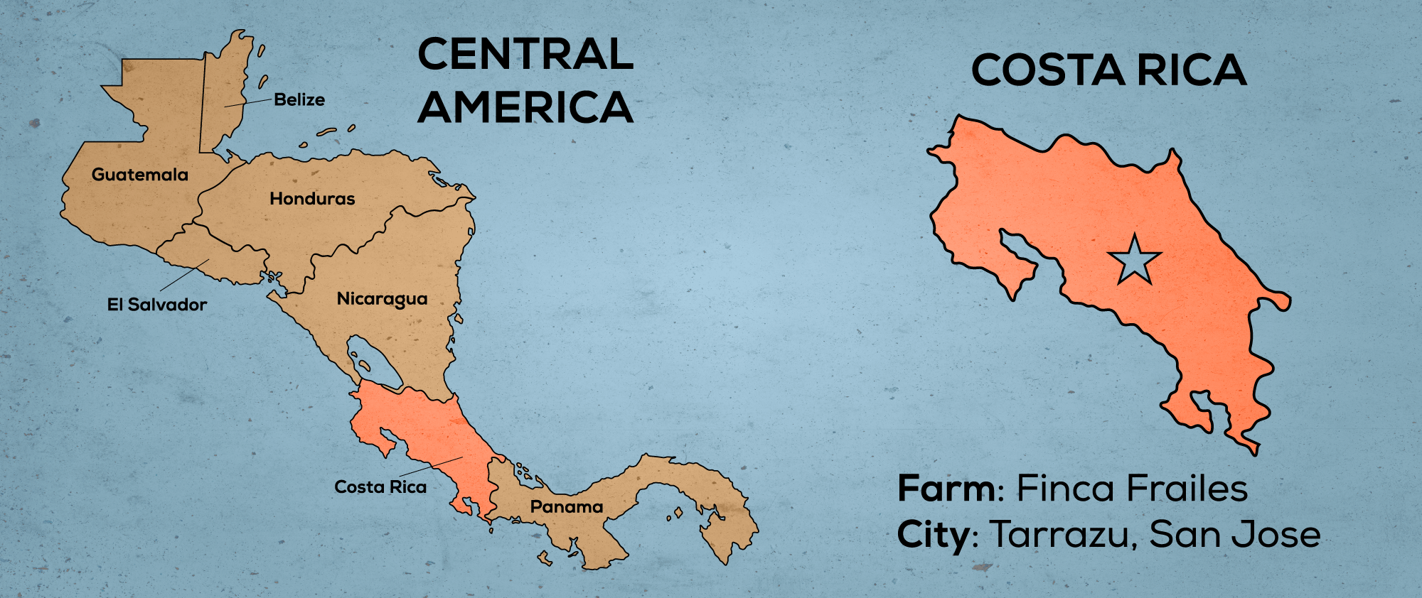 Map of Central America & Costa Rica