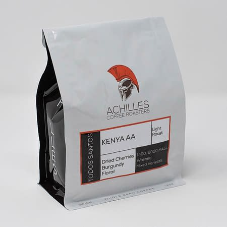 Whole Bean Roasted Coffee Kenya AA